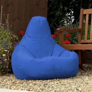 Bean bag Leather Lounger Sofa Cover Without Beans Blue for luxuries Decor gift