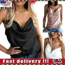 Women Ladies Sexy Sleeveless Strappy Chain Vest Tank Tops Camisole T Shirt Party
