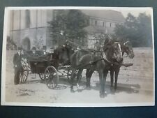 RP POSTCARD GENTLEMEN IN HORSE AND CARRIAGE (19)