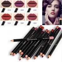Waterproof Pencil Lipstick Pen Matte Lip Liner Long Lasting Makeup 12 Colors