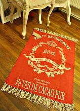 100% Cotone Francese Shabby Chic Royal Rosso Chateau Nappa Tappeto damascato Tè Cioccolato