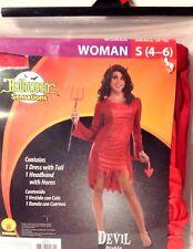 Halloween Costume Devil Woman Size Small 4-6