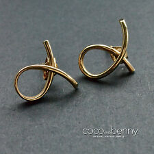 80's 14K Gold Wash on 925 Silver Twist Earrings
