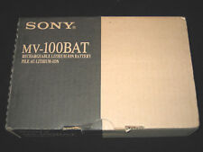 NIB SONY MV-100BAT RECHARGEABLE LITHIUM BATTERY FOR MV-700HR IN CAR DVD PLAYER