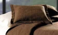Chocolate Brown Standard Sham : 100% Cotton Matelasse Pillow Cover