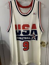 Vintage Champion USA Basketball Jersey 1992 Michael Jordan #9