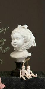 Bust Stature Sculpture White Shabby Vintage Landhaus Garden Decorative
