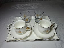 Espresso / Turkish Coffee Set With Tray and Water Glasses