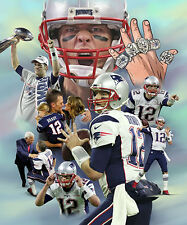 Tom Brady : giclee print on canvas poster painting for autograph  B-4095