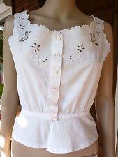 Ancien cache corset 1900 broderies papillons entièrement cousu et brodé main