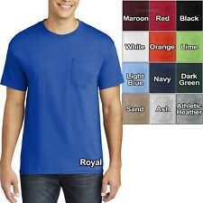 Big and Tall Mens T-Shirt With Pocket Heavy Cotton XL-4XL, LT XLT 2XLT 3XLT 4XLT