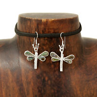 Abalone Dragonfly Earrings Taxco Mexico