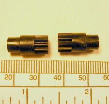 Gear - 2mm bore - 8mm diameter x 16mm long - 10 teeth- black nylon 66 Gear - 2m