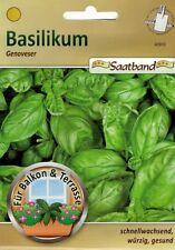 Bio Basilikum /'Genoveser/' Saatband schnell wachsend großblättrig   17155 Samen