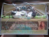 Kathy Ireland Baby Nursery Decor Crib Musical Mobile Mr. Pete Dog Theme NEW