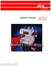 ELNA 925 DCX, 704 DEX SERGER SERVICE / Repair MANUAL & Schematics * 3 PDF / CD