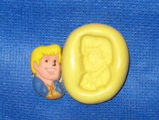 Scooby Doo Fred Push Mold  Food Silicone  #731 Cake Topper Fondant Scrapping