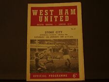 West Ham United v Stoke City 1966-67 DIV 1