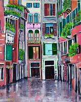 VENICE ORIGINAL Art PAINTING Artist DAN BYL Modern Contemporary large 4x5 ft