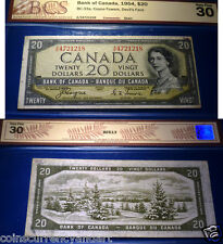 World famous - BANKNOTE - 1954 $20  DEVILS FACE Bank of Canada Certified