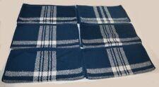 6 Ralph Lauren Talmadge Hill Plaid Blue / Cream Washcloths Set New Rare