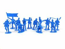 American Civil War Confederate Artillery 54mm Plastic Toy Soldiers Figures Blue