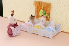 Calico Critters Triple Baby Bunk Beds Kids Pretend Play Bed Bedroom Toy Set New