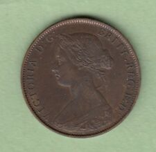 1862 Great Britain 1/2 Penny Coin - EF