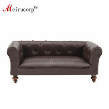 handmade 1/12 scale Dollhouse miniature furniture brown Leather seat