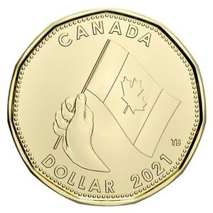 "2021 Canada $1 Special ""Oh Canada"" Design Loon Dollar ""Only From Set"""