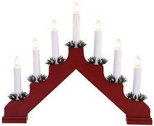 Arc à lumière à bougies éclairage pour fenêtres chandelier Suédois rouge 7 70369