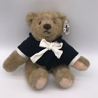 "Vintage GUND Bialosky Jointed Plush Teddy Bear 12"" Black Tuxedo 1982 G8"