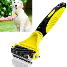Cat Dog Pet Hair Fur Remover Shedding Grooming Brush Comb Trimmer Dual Side RF