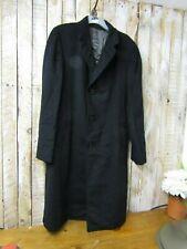 Durburg weatherproof wool & cashmere mans long coat - black Robert HAMILTON