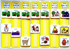 Autism Weekly Planner Food Meal Supplies Developments Speech Language Therapy