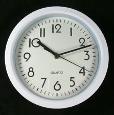 Wanduhr Quarz Ø 22cm weiß Küchenuhr Werkstattuhr Bürouhr Uhr weiss Neu ...