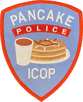PANCAKE POLICE ICOP PATCH
