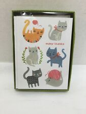 Thank You Cards Madison Park Greetings Cats Kittens 10 Notecards & Envelopes
