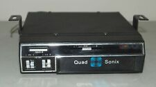 Nice! Vtg Quad Sonix 8 Track Under Dash Car Tape Player (Muscle Car Accessory)