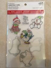Trio Friend Clear Stamp & Die Set By Recollections™ 529318 CHRISTMAS 🎅🤶 NEW