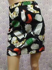 Desigual Short Straight Skirt Womens Sz S Funky Forest Animal Print Art To Wear
