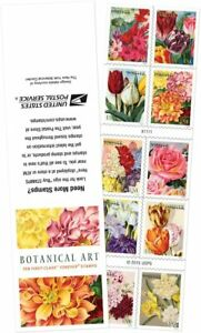 *Mint. US 5051B Botanical Art. Forever Booklet of 10 MNH 2016 Flowers.