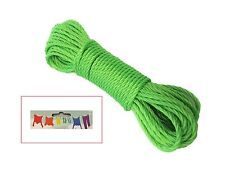 G- 50FT Plastic Clothes Line Household Outdoor Dry Laundry Rope String Multi Use