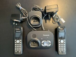 panasonic cordless phones (2) with answer machine