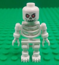 *NEW* Lego White Red Eyes Skeleton Minifigure Fig Dead Zombie Halloween x 1