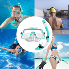 Snorkeling Gear Set Tempered Glass Diving Mask Leak Proof Snorkel Panoramic View