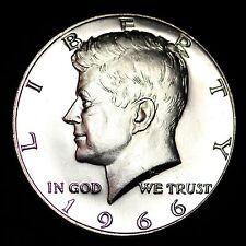 1966 Kennedy 40% Silver Half Dollar GEM BU FREE SHIPPING!