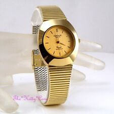 OMAX Classic Waterproof Gold PL Designer Style Stainless Steel Mens Watch WP4107