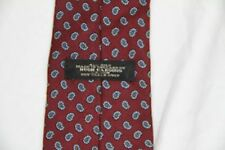 Mens Hugh Parsons 100% silk necktie tie maroon design made in England