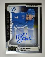 2019-20 OPC Platinum 2018-19 Update Rookie Auto #R-MJ Mathieu Joseph RC